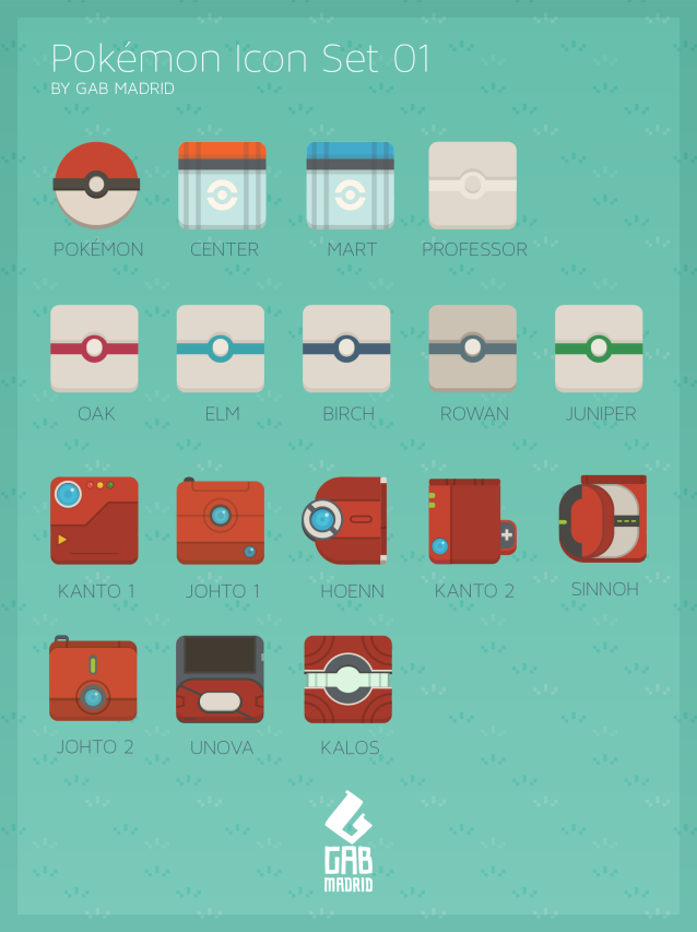 Pokemon Icon Set 01