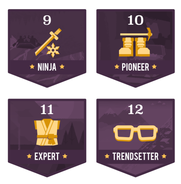 Level Badges 4set-03
