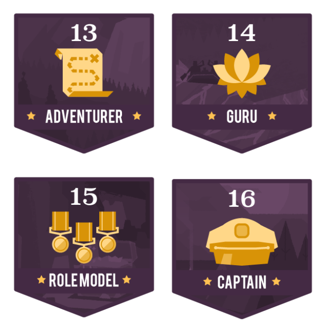 Level Badges 4set-04