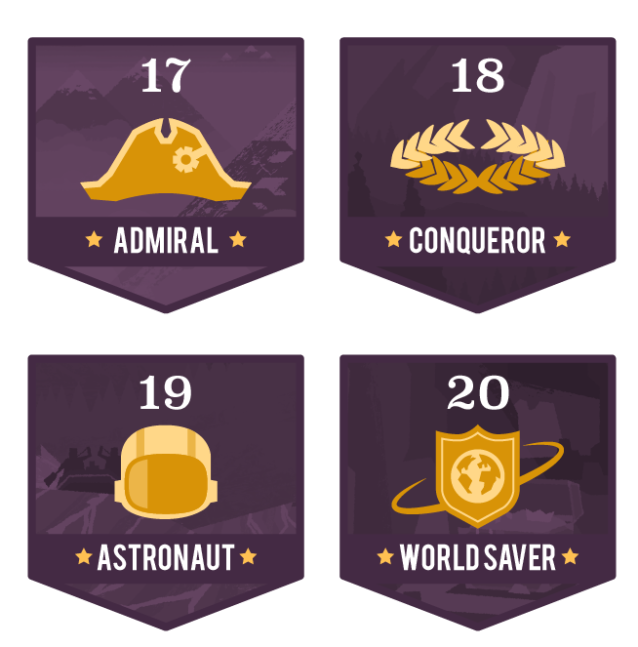 Level Badges 4set-05